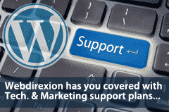 Get WordPress and Marketing Support from Webdirexion