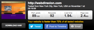 Webdirexion Speed Test