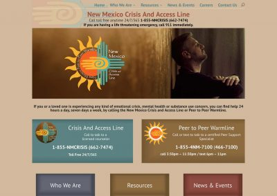 New Mexico Crisis Line Pro Website