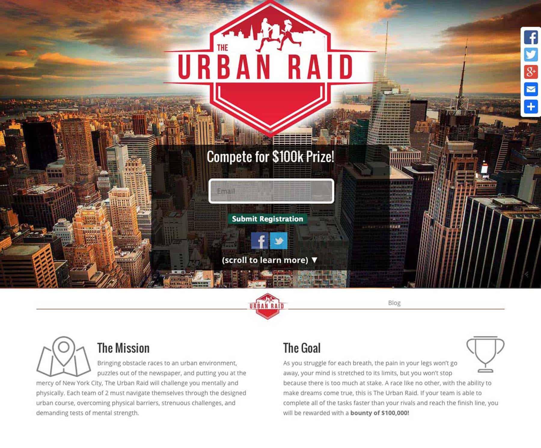 Urban Raid Pro One Page Site 3