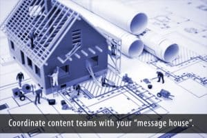 Use the message house strategy to guide your content marketing teams