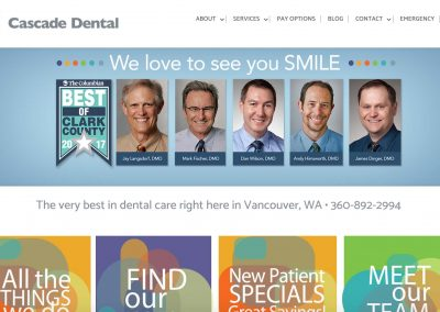 Cascade Dental – Pro Website & Digital Marketing