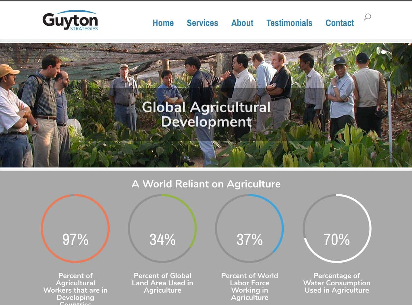 Webdirexion One Page site for Guyton Strategies