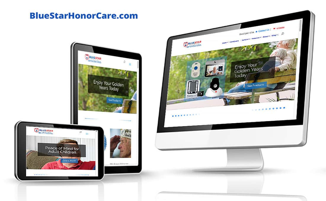 Webdirexion Built This Site for a National Senior Care Products Company, BlueStar HonorCare Pro Website