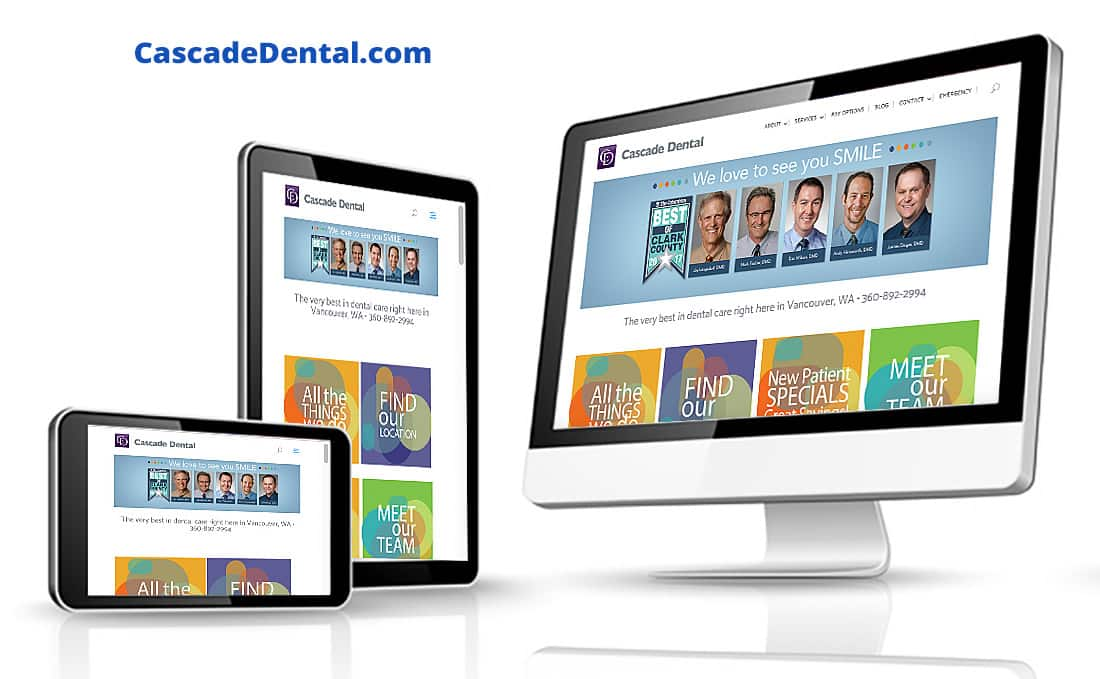 Cascade Dental - Digital Marketing Client of Webdirexion, Cascade Dental Pro Website