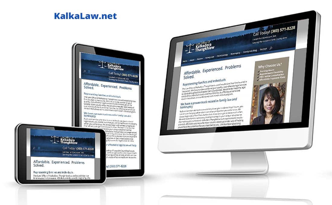 Webdirexion Built This Site for a Law Firm, Kalka Law Pro Website