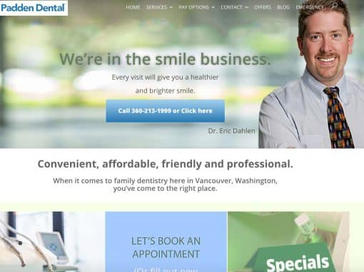 Padden Dental Pro Website & Digital Marketing