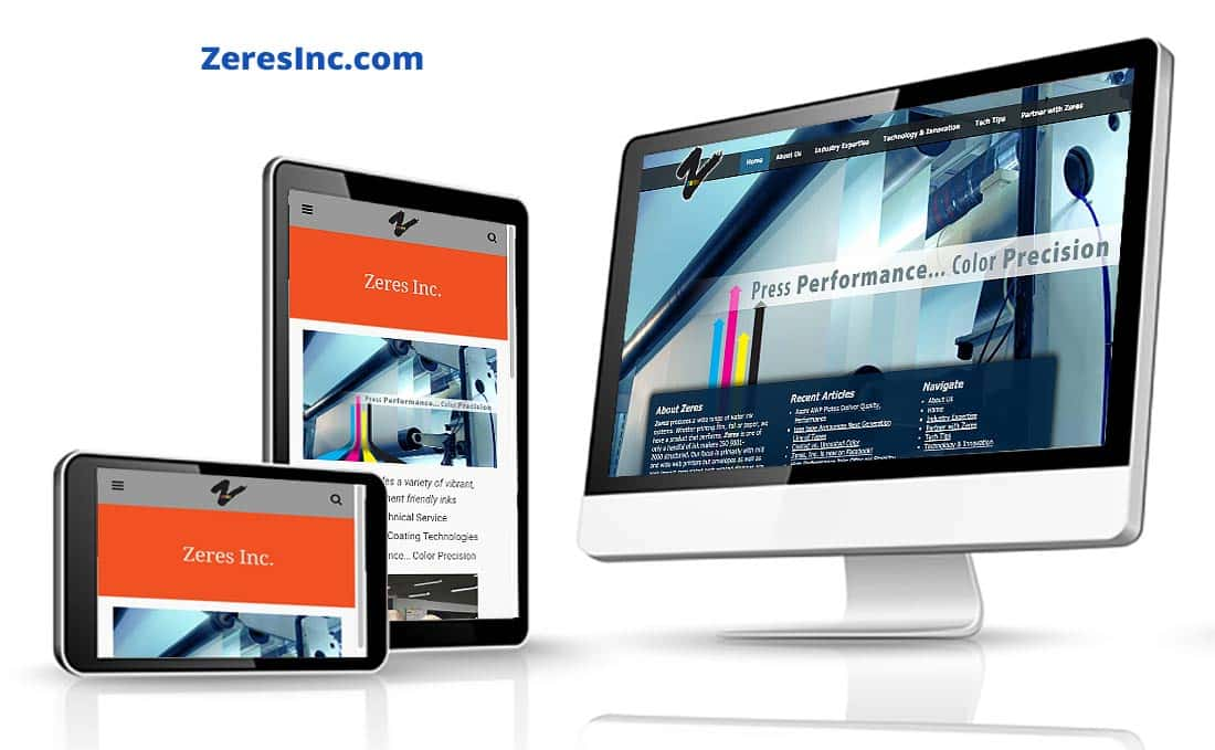 Zeres Professional Website by Webdirexion (Genesis theme platform), Zeres Inc. Pro Website