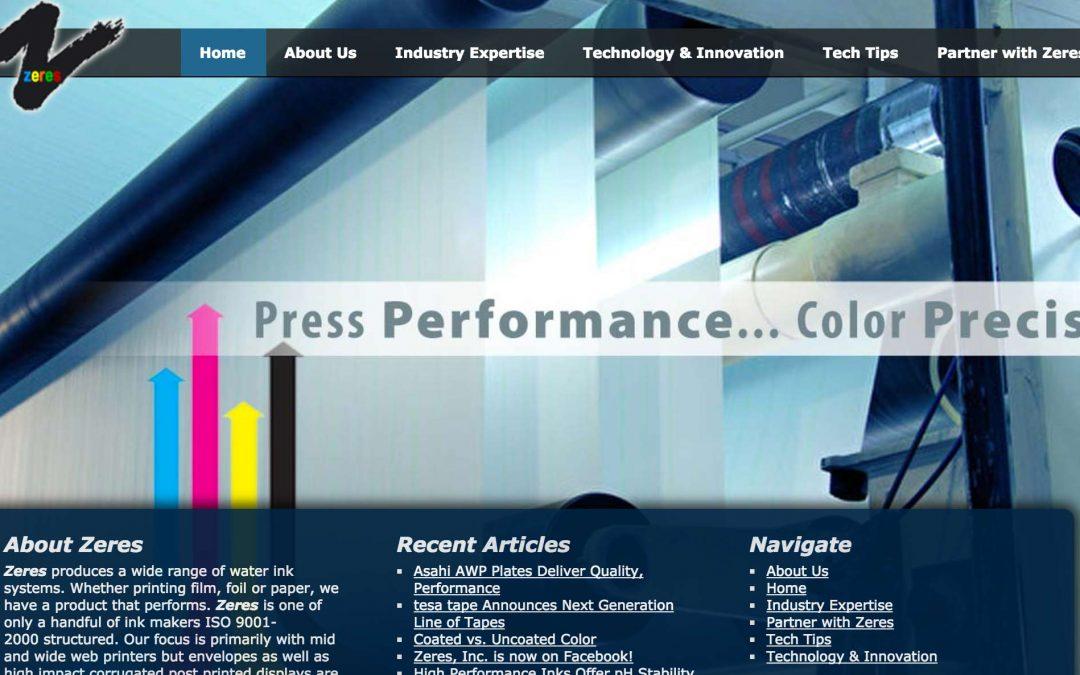 Zeres Inc. Pro Website