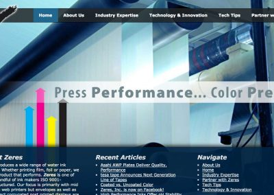 Zeres Inc. Pro Website