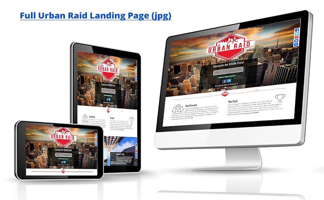 Urban Raid One Page Site by Webdirexion