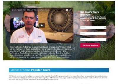 Croc's Resort Services Pro Hotel Website with Booking Solution 1