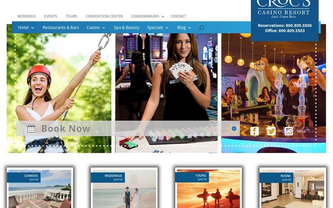 Croc's Resort Services Pro Hotel Website with Booking Solution