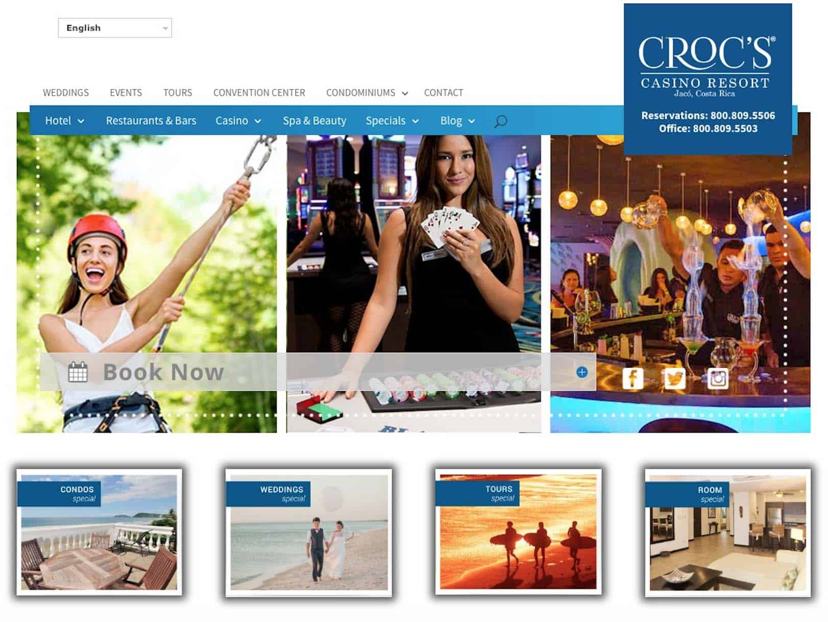 Croc's Resort & Hotel Website