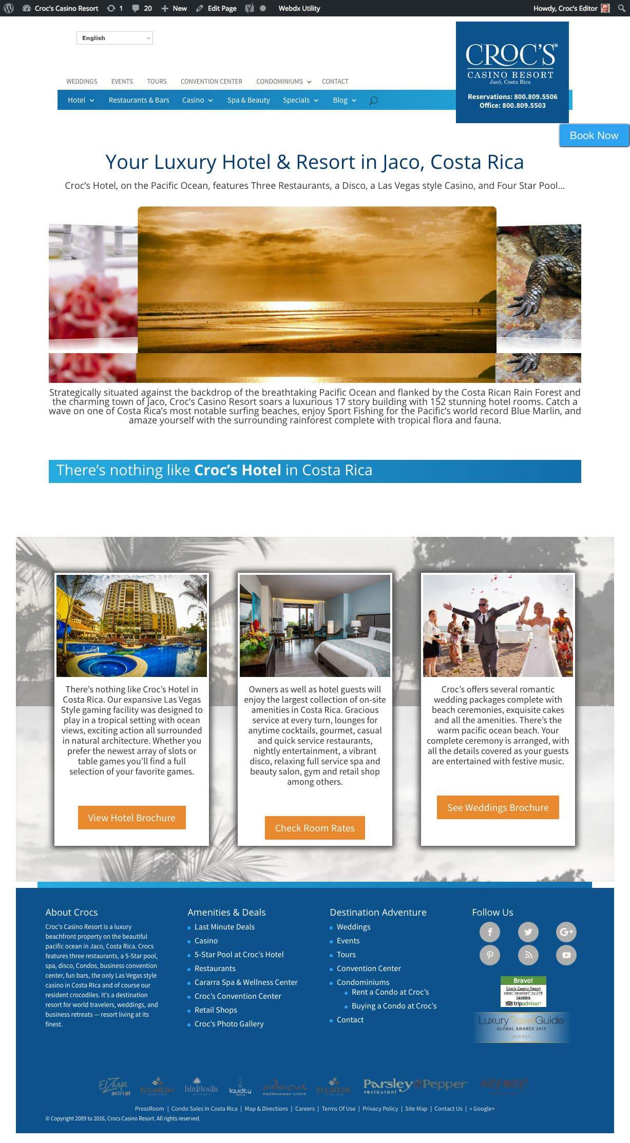 Croc's Resort Services Pro Hotel Website with Booking Solution 4