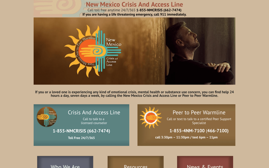 New Mexico Crisis Line Pro Website