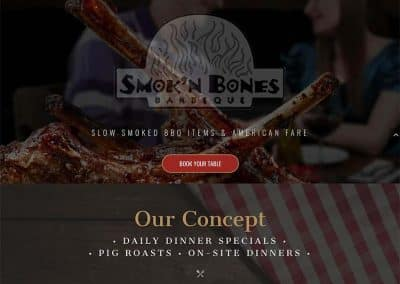 Smokn Bones Restaurant Pro Website