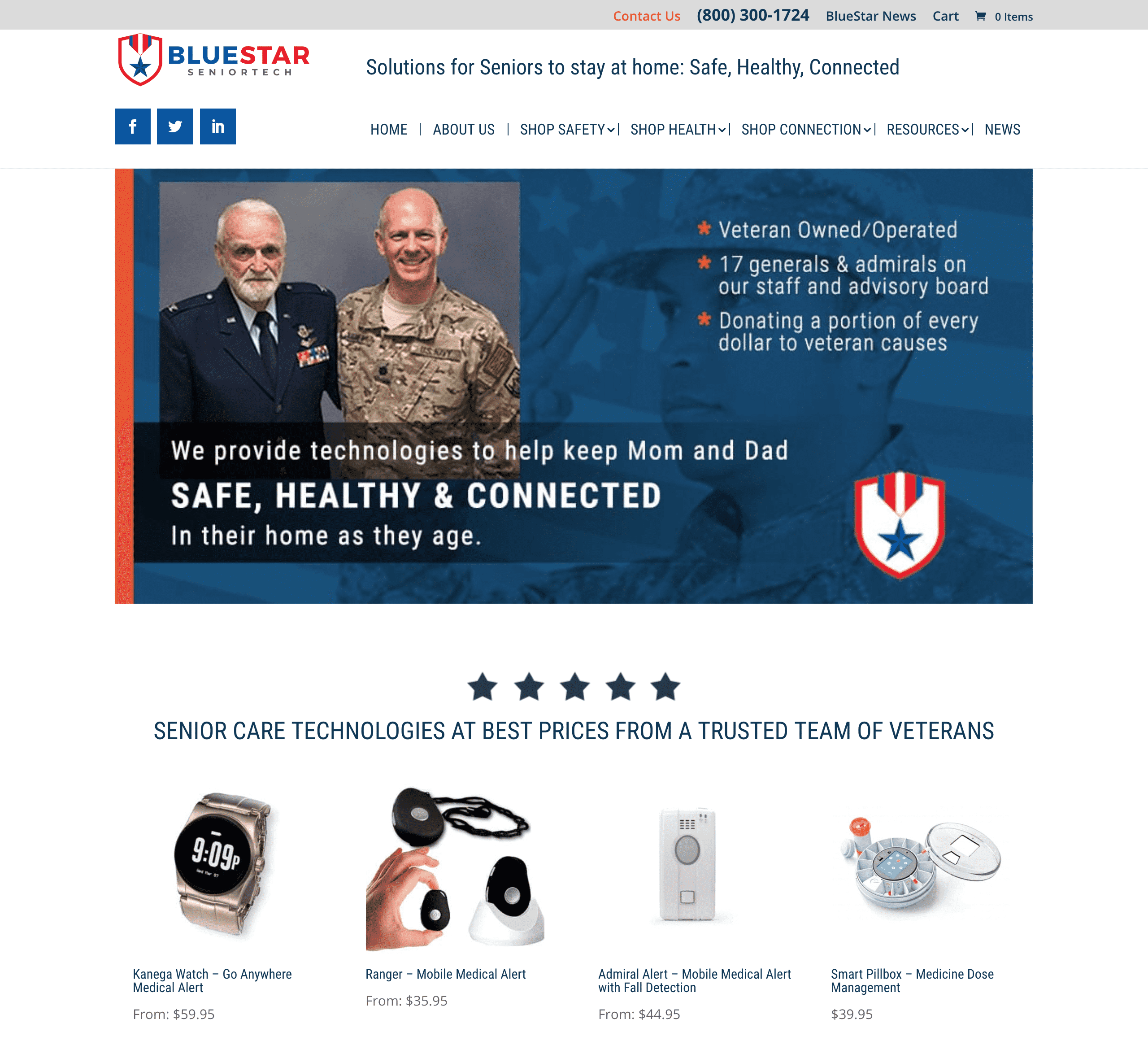 BlueStar HonorCare Pro Website 1