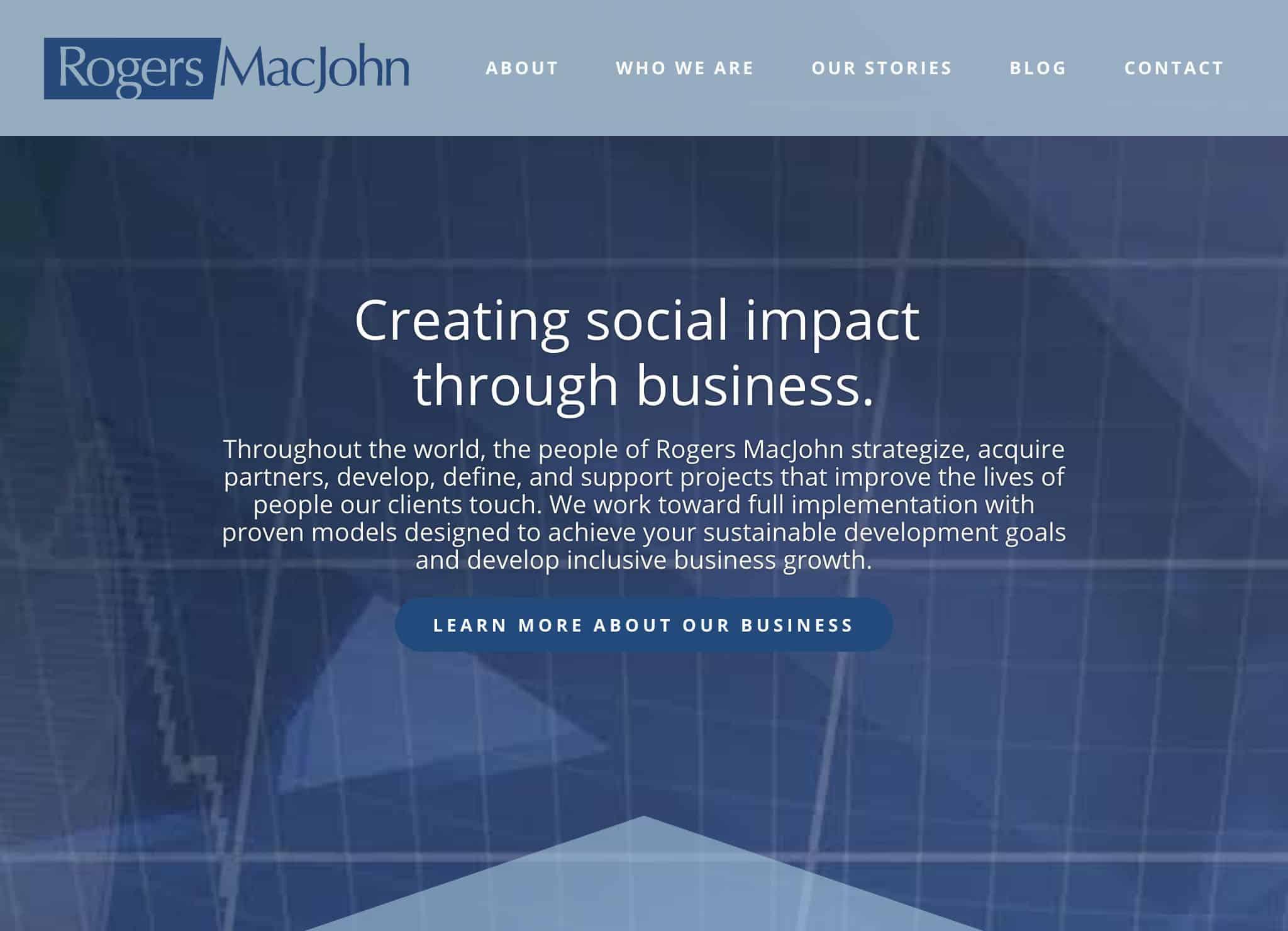 Rogers MacJohn Pro Website by Webdirexion