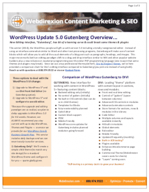 WordPress 5 Gutenberg Compared to Divi Professional Builder 2