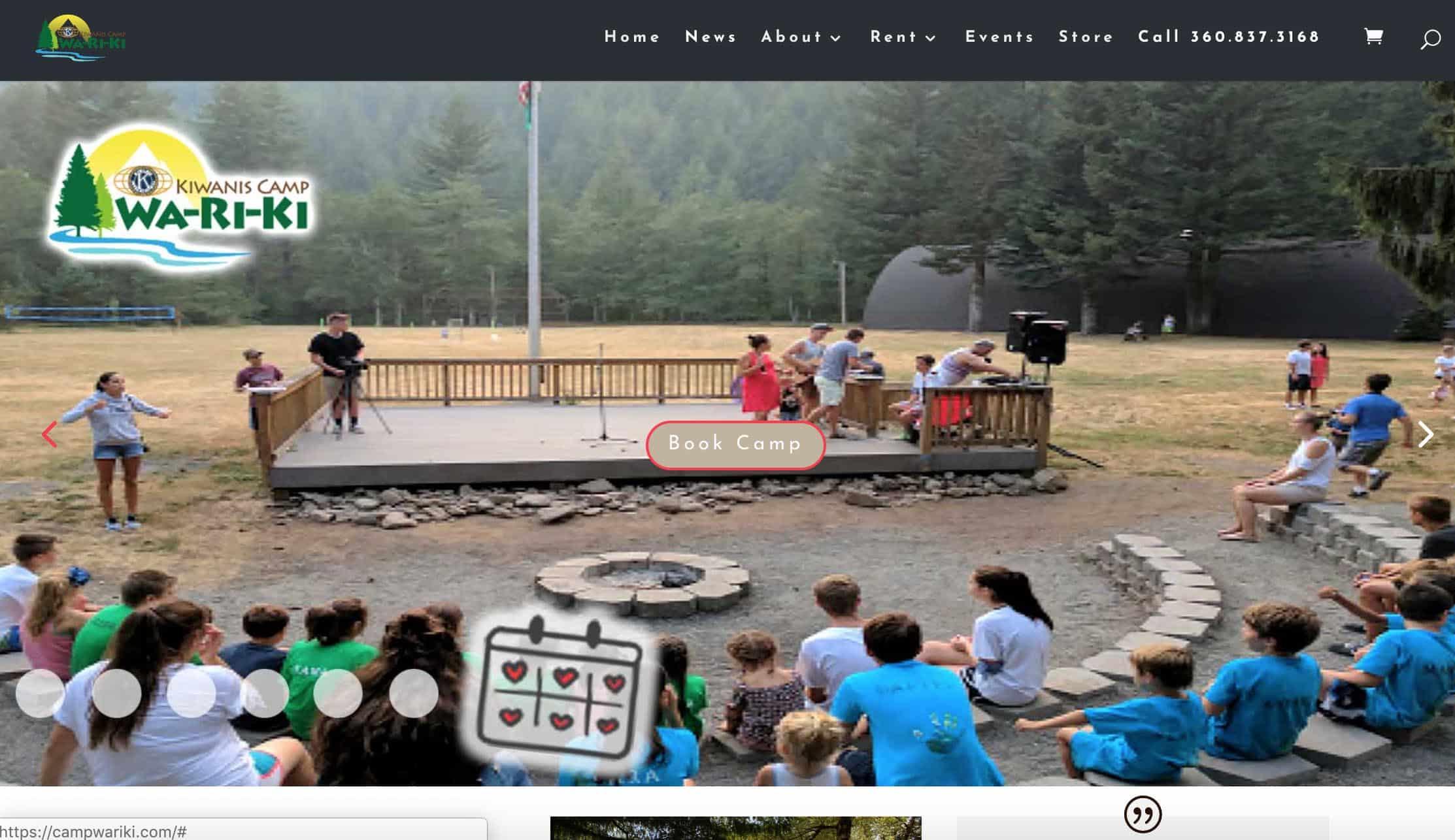 Camp Wa-Ri-Ki Pro Site by Webdirexion