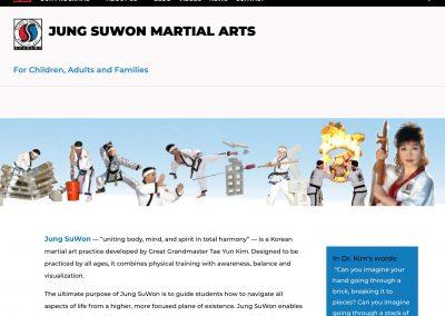Jung SuWon Martial Arts Pro Website