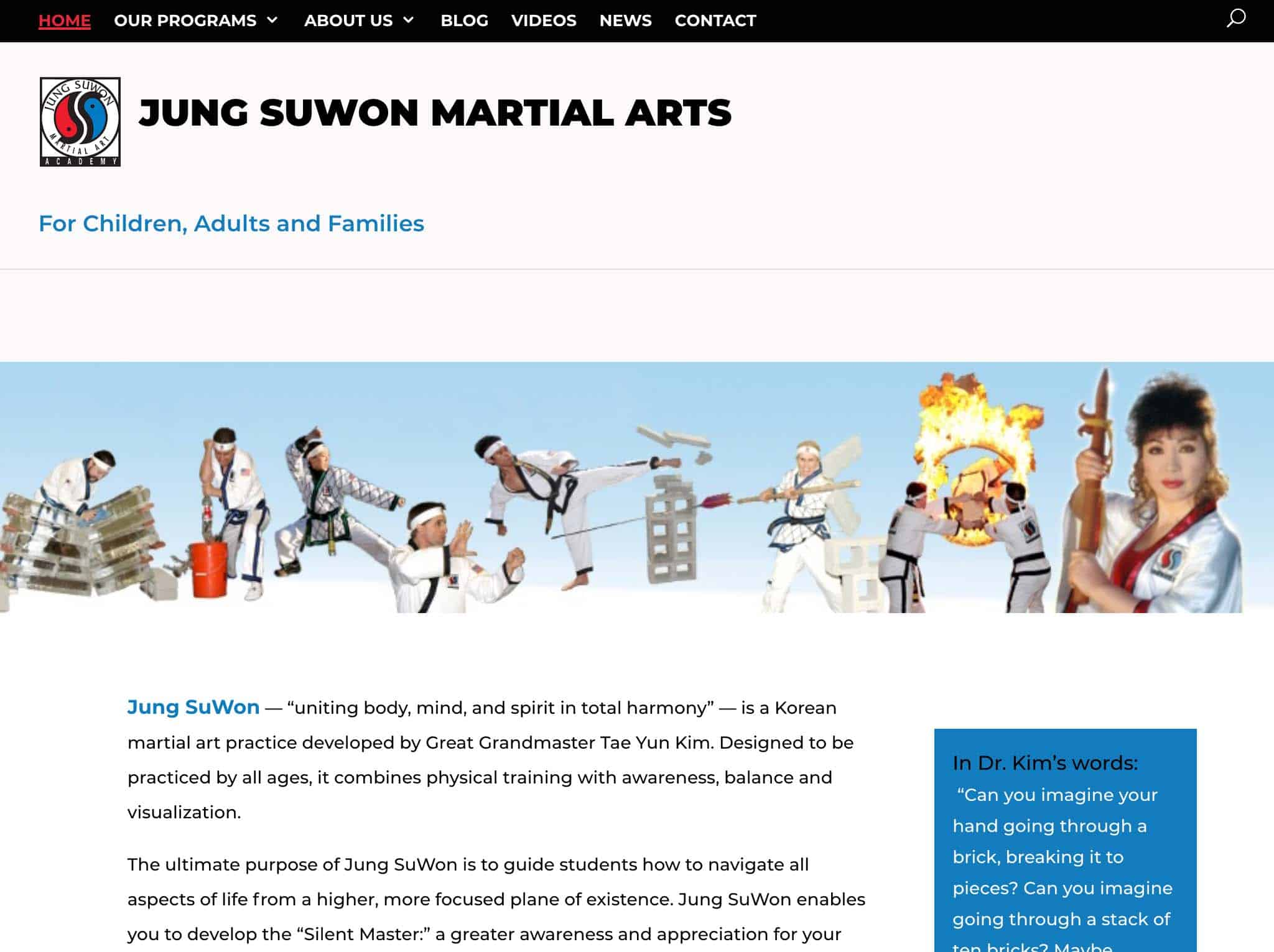 Jung Suwon Pro Website Developed by Webdirexion