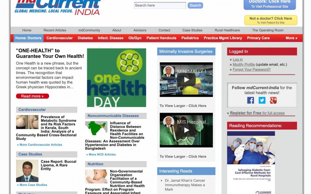 MDCurrent – Indian Medical News Pro Site