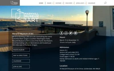 Maryhill Museum Professional WordPress Website