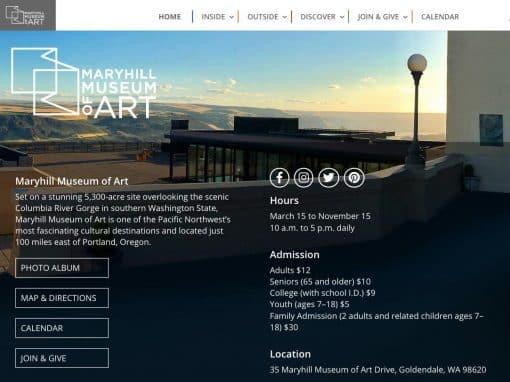 Maryhill Museum Professional WordPress Website