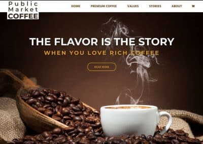 Public Market Coffee Professional WordPress Site