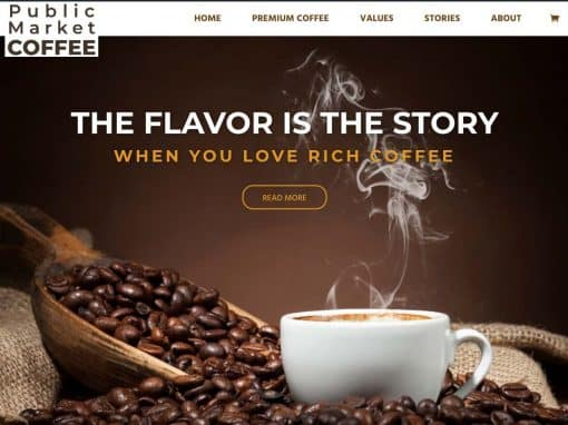 Public Market Coffee Professional WordPress Site