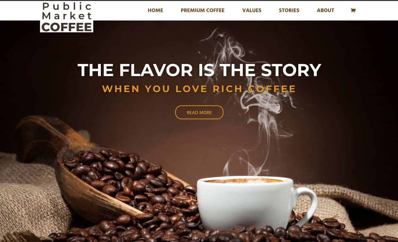 Public Market Coffee Website