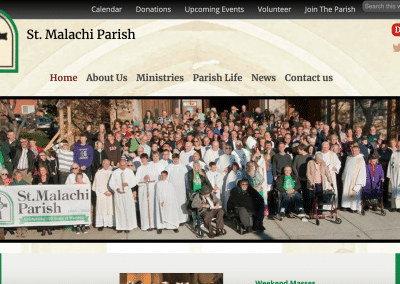 St. Malachi Church Pro WordPress Website