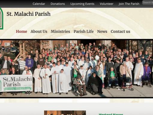 St. Malachi Church Pro WordPress Website