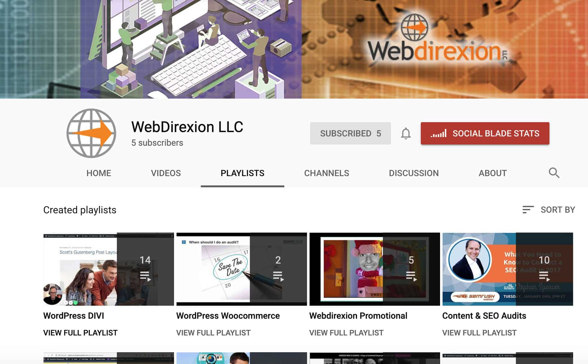 Webdirexion Content Marketing YouTube Channel