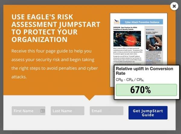 Webdirexion Split Test Sees 670% Lift