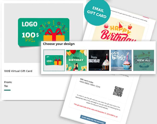 Virtual Gift Cards from Webdirexion